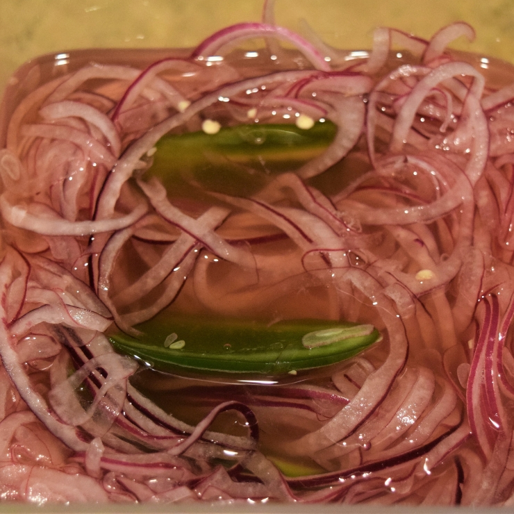 pickled red onions with jalapenos